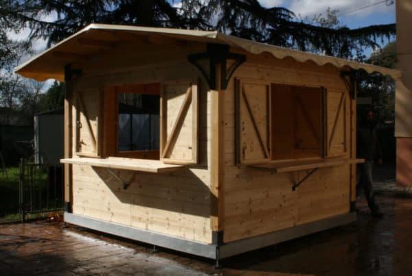 chiosco in legno 3x3mt